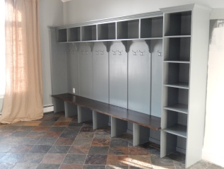 custom mud room cabinetry