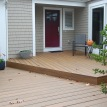 new deck, entry door, patio door
